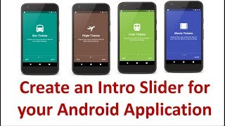Android App Intro Slider  - 4/6 - Create the Slide View using ViewPager and Pager Adapter