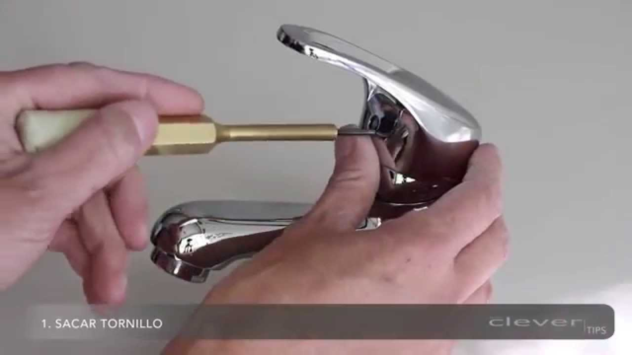 Cambio del cartucho de un grifo monomando Clever - YouTube