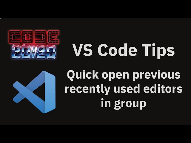 Quick open previous recently used editors in group