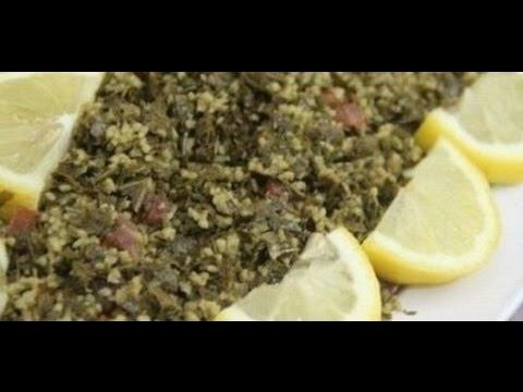 طريقة عمل سلطة ورق العنب بالأرز والبرغل ماميتو