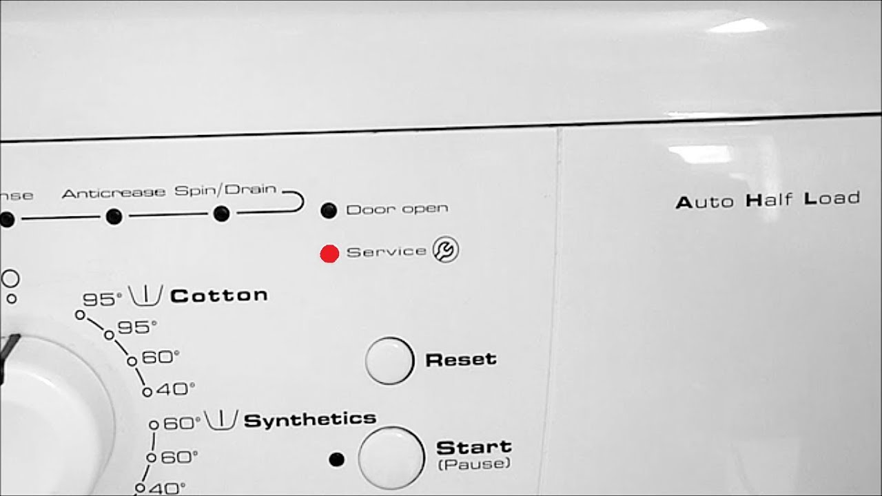 How To Fix Whirlpool Washing Machine Service Error Lights Clean