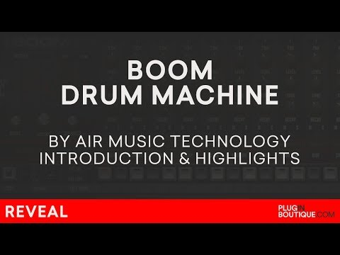 Boom VST/AU/Plugin   Air Music   Classic Analogue Drum Machine 808 909 CR78 606 Overview   Review