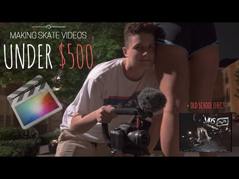 HOW TO MAKE SKATE VIDEOS / HOW TO CREATE OLD SCHOOL VHS or Sony vx1000 EFFECT! (For Cheap)