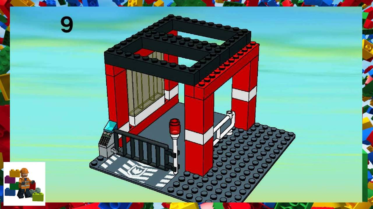 Lego Instructions City Fire 7240 Fire Station Book 2 Youtube