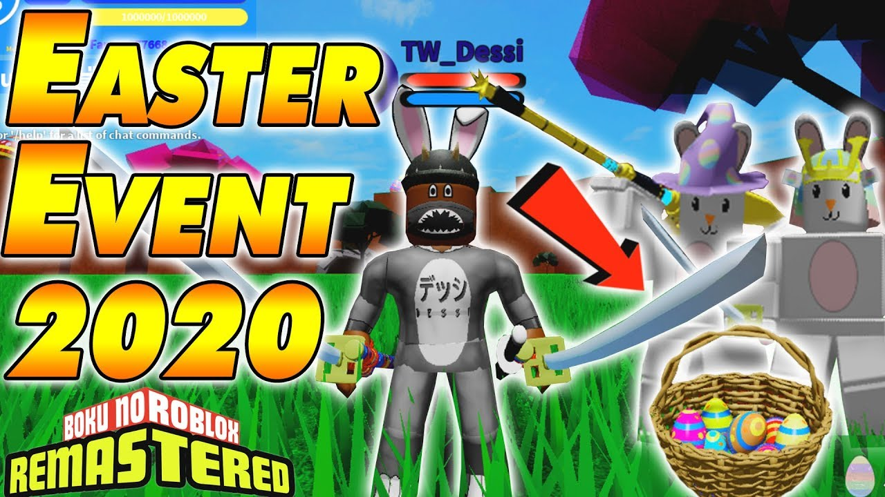 Active Boku No Roblox Codes New Code New Easter Event Update 2020 Boku No Roblox Remastered Youtube