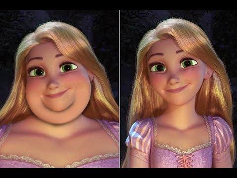Если бы принцессы Диснея были толстыми