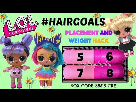 LOL Surprise HAIRGOALS Makeover Series 5 Unboxing Ball Placement & Weight Hack Splatters Opps Baby