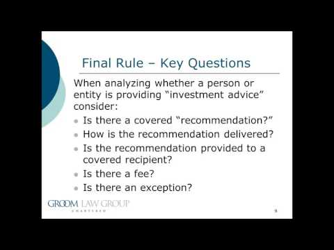 Special Session: The New DOL Fiduciary Regulations