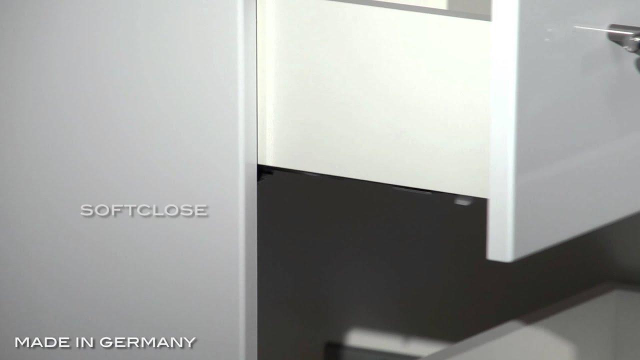 universal unterbau auf rollen 55 cm weiss hochglanz youtube. Black Bedroom Furniture Sets. Home Design Ideas