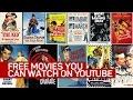 Free movies you can watch on YouTube