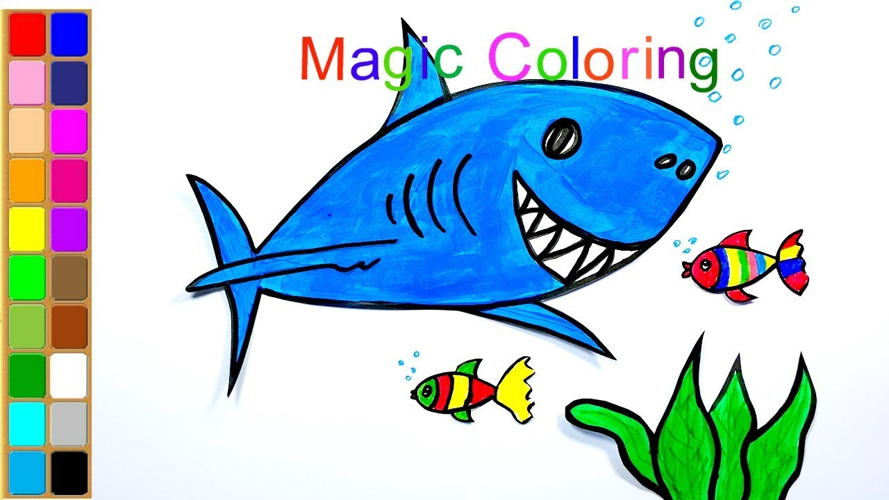 How to Draw a Shark for Kids Easy - Shark Coloring Pages ...