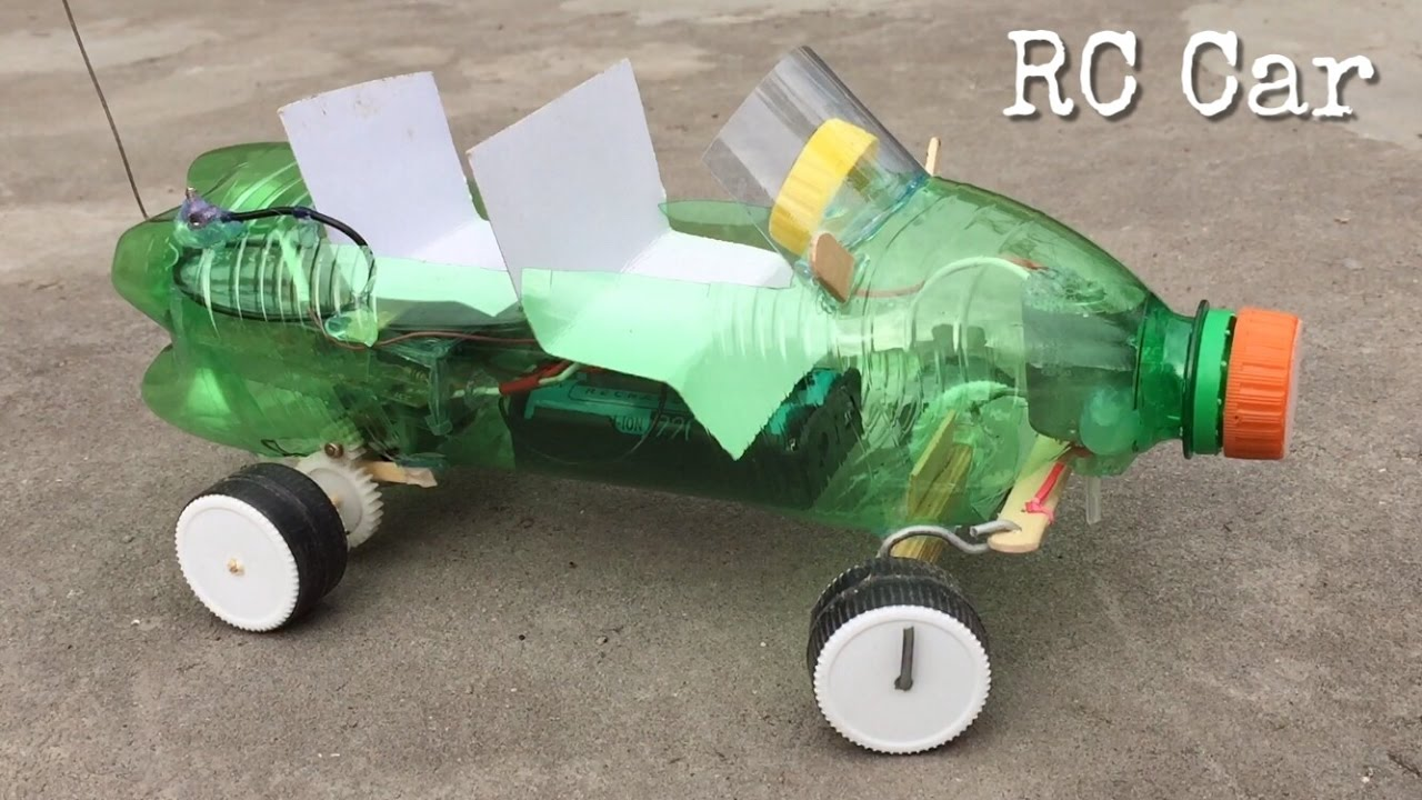 How To Make Rc Car Out Of Plastic Bottle Very Powerful