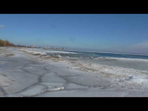Ice Waves On Lake Huron!! Looks Like A Lake Of Breathing Ice