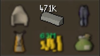 I used 471,280 LIMESTONE BRICKS to get this (Ultimate Ironman)