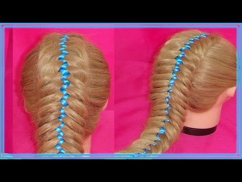 FISHTAIL WITH RIBBON ZIGZAG BRAID