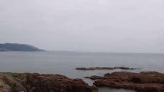 薩摩藩英国留学生渡欧の地(羽島浦黎明公園)からの眺め*広がる海