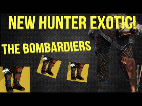 Hunter Exotic: The Bombardiers (Explosive Shadestep) Destiny 2 Season Of Dawn(Update 2.7.0)