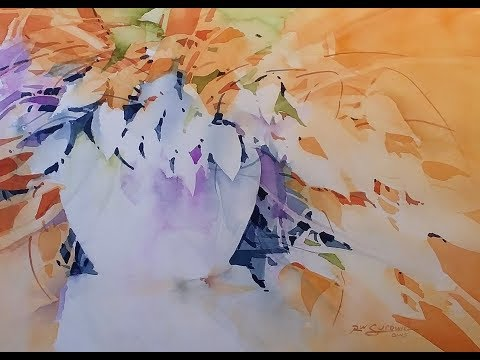 "Transparent Watercolor Demonstration ""Lively Foliage"""