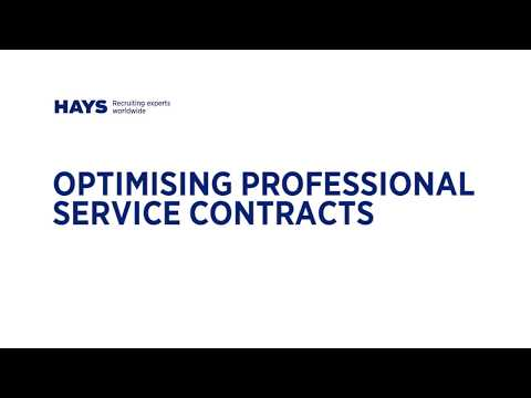 Optimising Professional Service Contracts