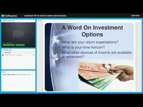 Investment 101 for Small to Medium Sized Business