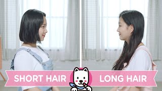 Short Hair VS Long Hair ENG SUB • dingo kbeauty