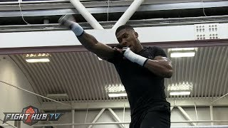 ANTHONY JOSHUA LOOKING POWERFUL, FLUID & FAST! FULL MEIDA WORKOUT - JOSHUA VS TAKAM