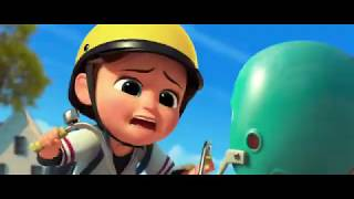 Bossbaby escaping from ladyman
