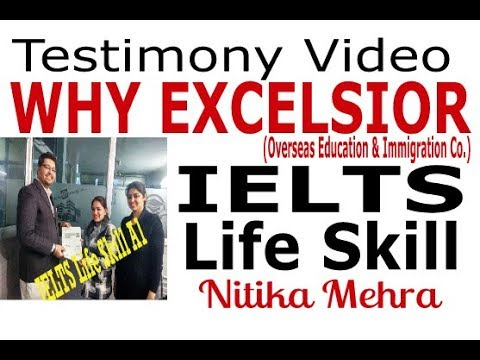 WHY JOIN EXCELSIOR Academy (EcA), Amritsar by Nitika Mehra - (IELTS Life Skill) +91 7837085505