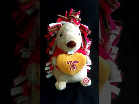 Hallmark stuffed plush singing spinning Stuck On You Valentines Day Porcupine For Sale
