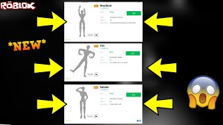 *ALL NEW* ROBLOX BRAND NEW EMOTES!!! *YOU CAN BUY THEM NOW* (ROBLOX CATALOG NEW EMOTES)