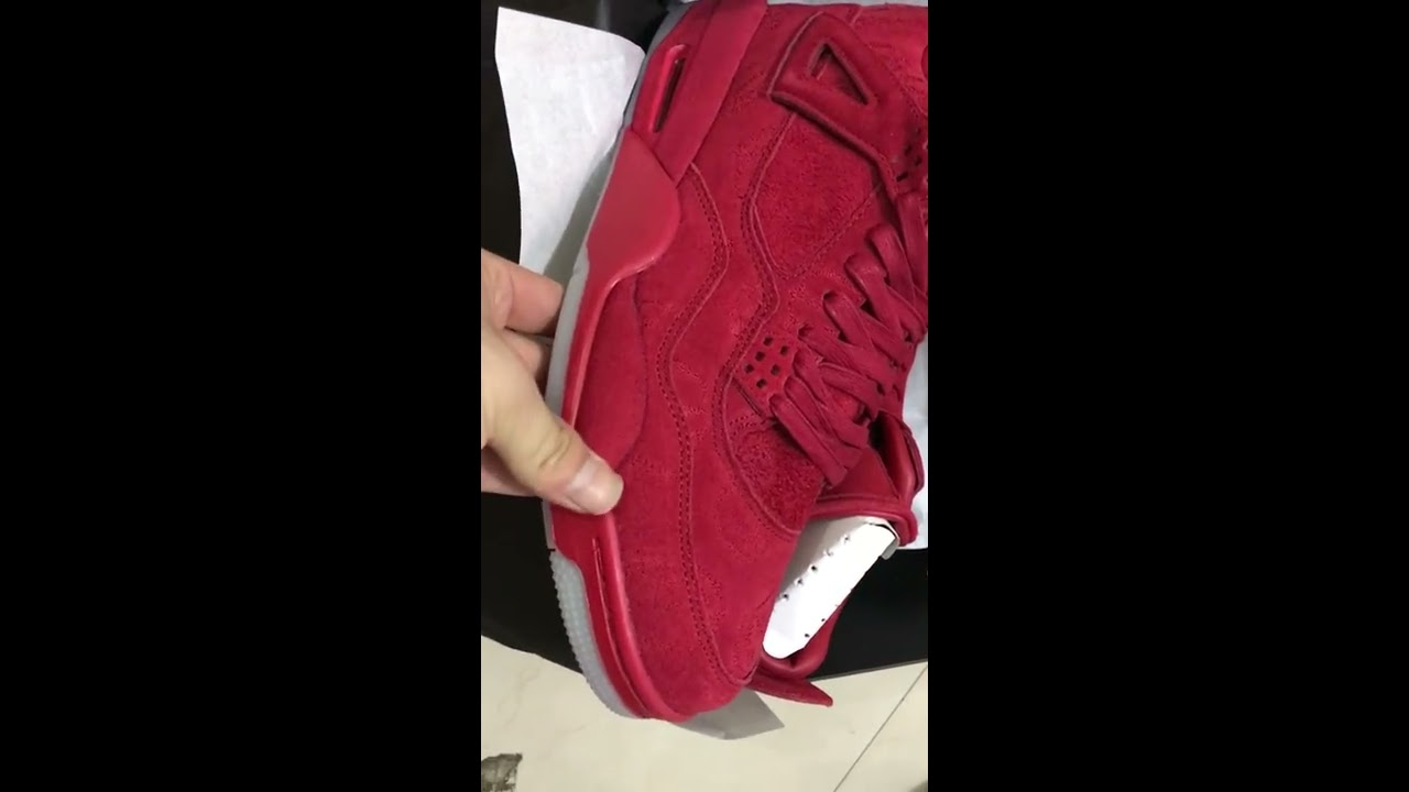 lowest price 774ed 81c8c New color Kaws X Air Jordan 4 GYM RED Green Silver White