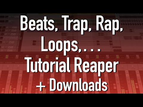 Como fazer beats trap, rap etc.. e loops no REAPER 6 + Download de Samples e Loops GRÁTIS