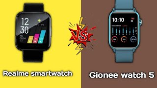 Gionee watch 5 Vs Realme smartwatch full comparison in hindi || Which Should you buy