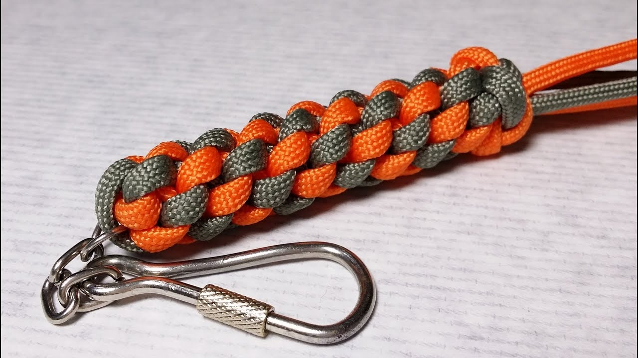 How to make circle stitch keychain scoobie youtube for How to make a keychain out of paracord