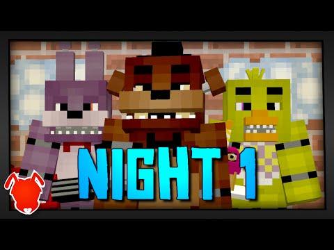 MINE Nights at Freddy's | Night 1 | FNAF Minecraft Roleplay