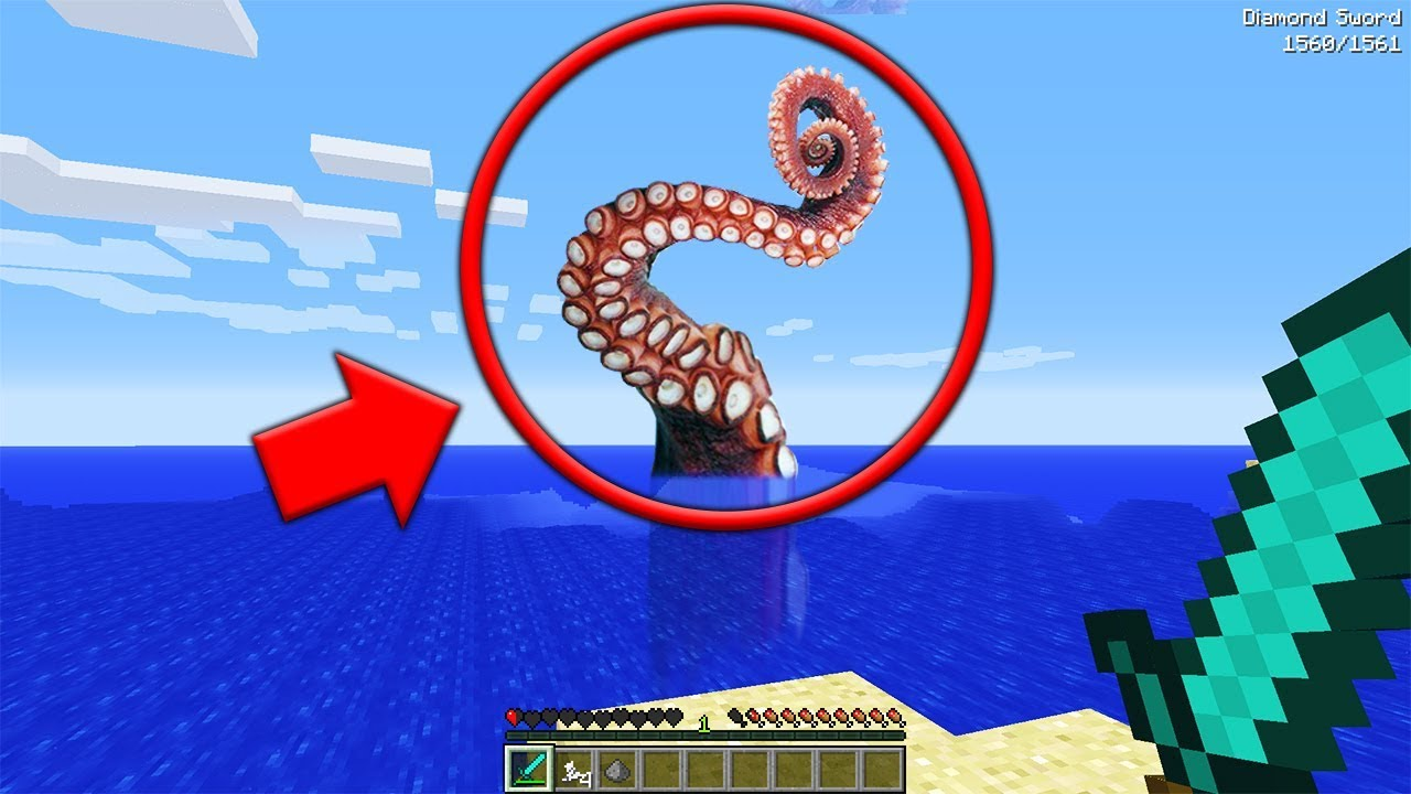 We were ATTACKED by a GIANT TENTACLE MONSTER in Minecraft    (Minecraft SCP  Seed)