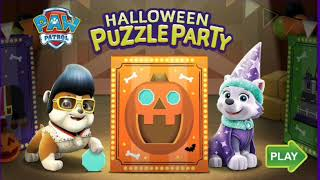 PAW PATROL HALLOWEEN PUZZLE PARTY KIDS GAME EPISODE ANDROID GAMEPLAY