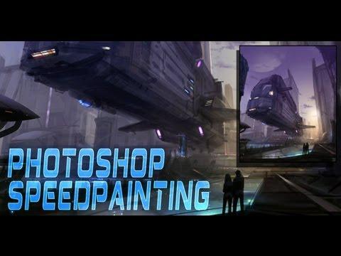 Digital Speedpainting Photoshop - Spaceport