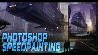 Digital Speedpainting Photoshop - Spaceport