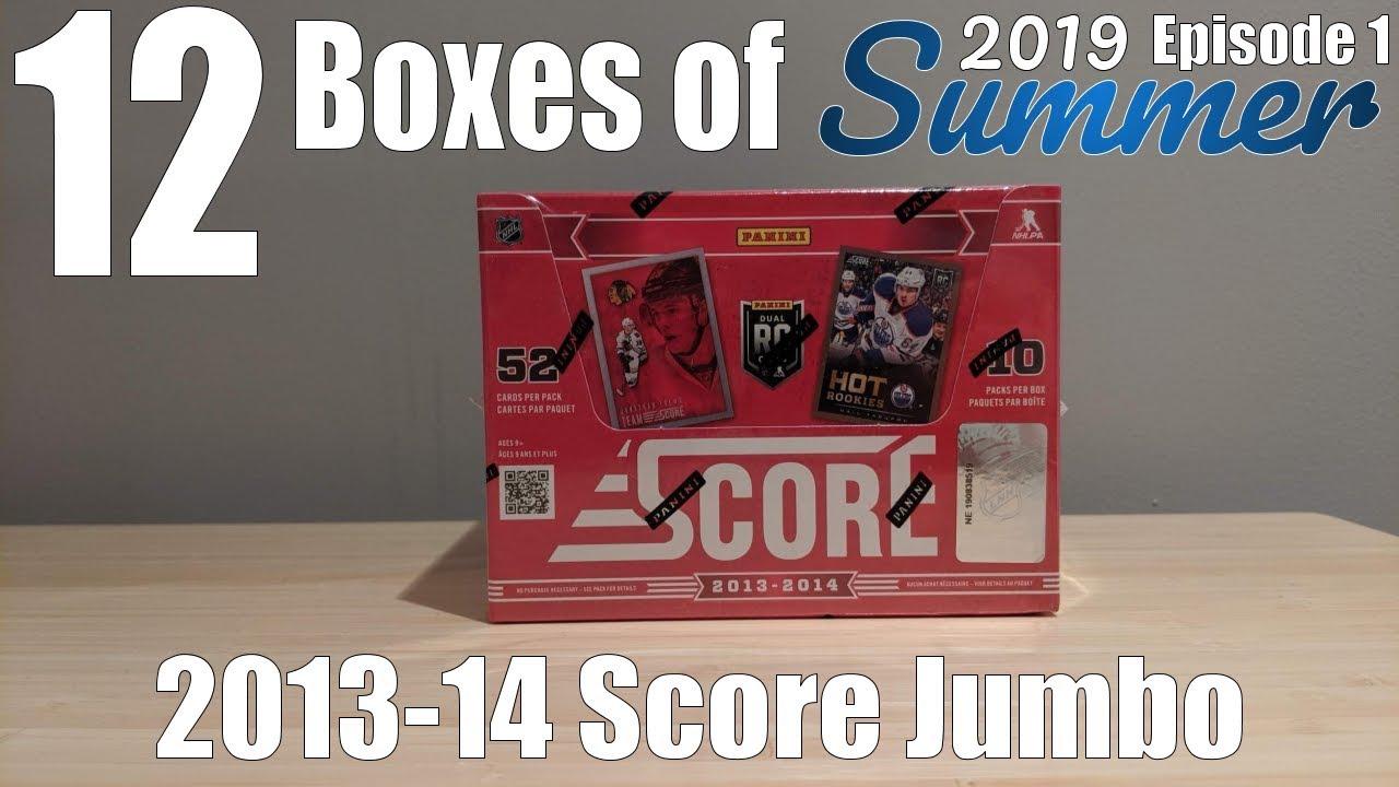 12 Boxes Of Summer Day #1 | 2013-14 Score Hockey Jumbo Box Break! MOJO!