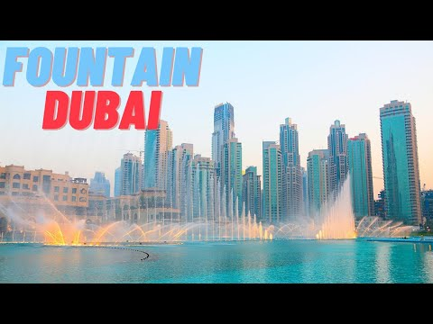 THE DUBAI FOUNTAIN- Amazing Dancing Fountain Show 2020 || Arabic Song ||