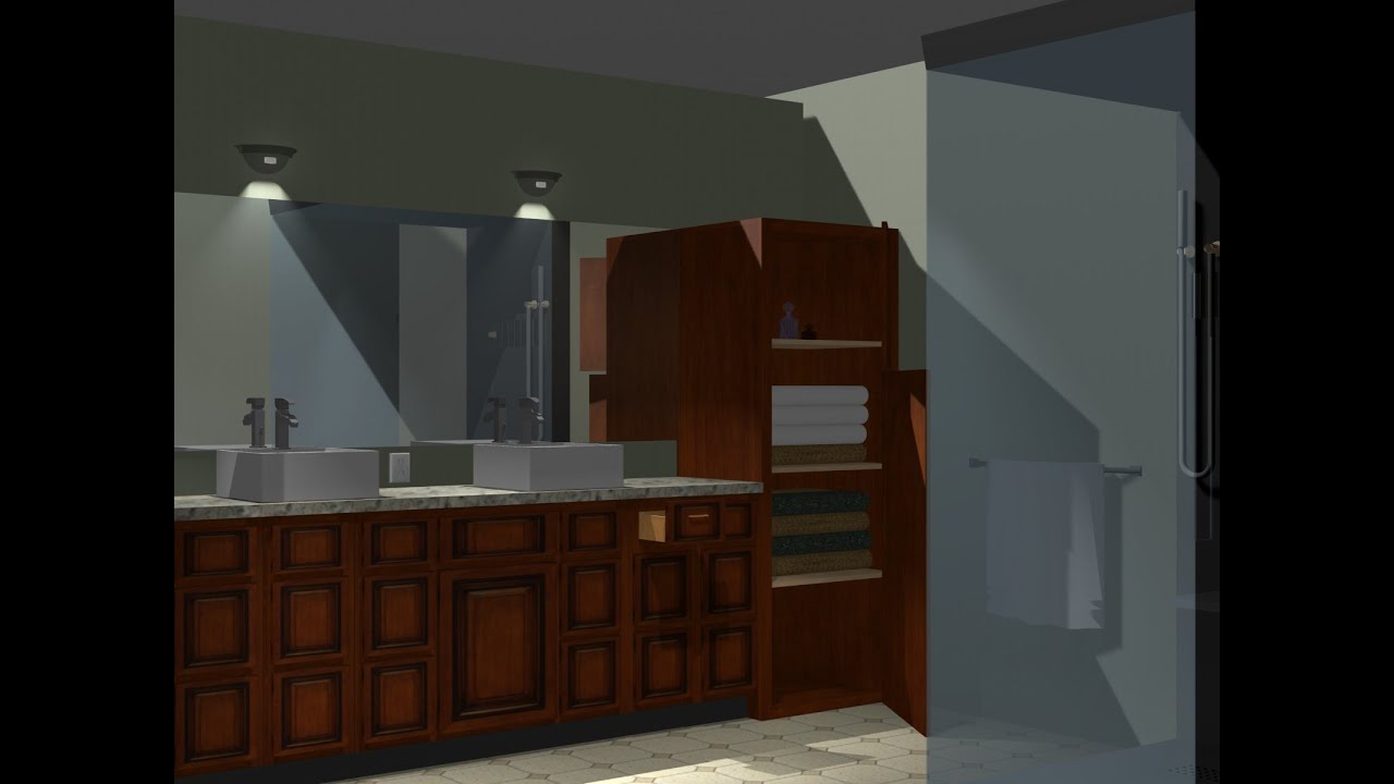 Kitchen And Bathroom Designs Using Pro100 Software Youtube