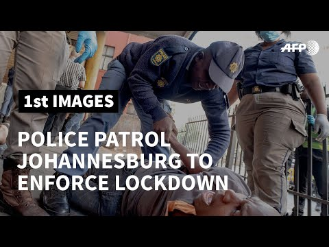 Coronavirus: South Africa police patrol to enforce lockdown | AFP