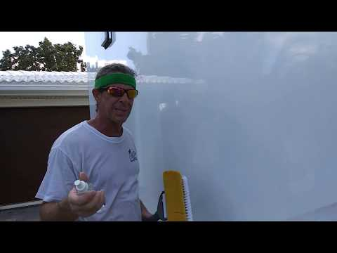 Aluminum Trailer How To Clean Remove Black Streaks Polish Out Scratches PT3/7