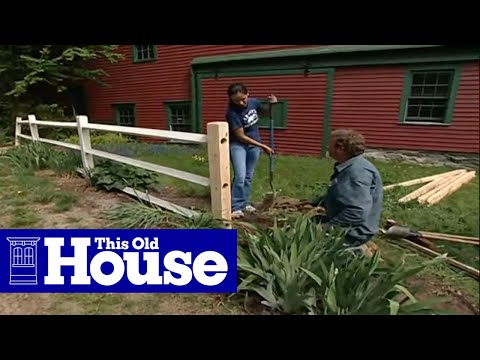 How To Repair A Split Rail Fence This Old House Youtube