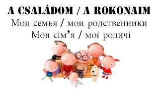 """Венгерский язык Урок 91 - """"A családom, a rokonaim - Моя семья и мои родственники"""""""