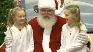 Santa Helps Soldier Surprise his Sisters
