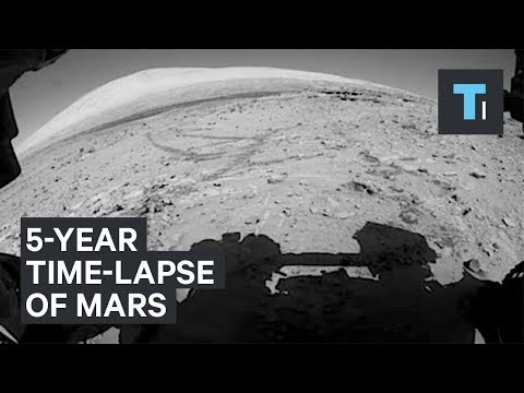 NASA Curiosity rover's 5-year time-lapse