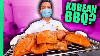 Korea's Bizarre Meat BBQ!! Eaтing ONLY Animal Skin for 24 Hours!!!