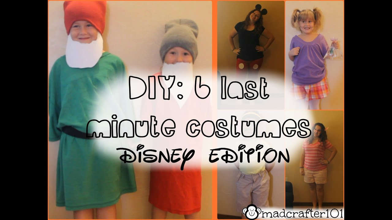 Homemade Disney Costume Ideas Diy 6 Last Minute Halloween Costumes Disney Edition Youtube